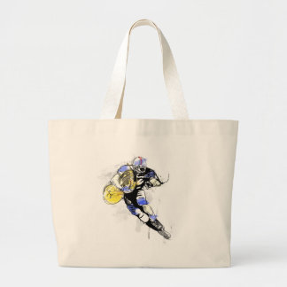 horn football large tote bag