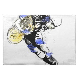 horn football place mat