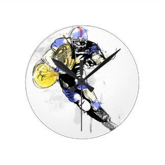 horn football round clock