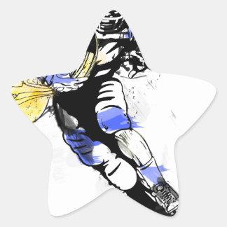 horn football star sticker