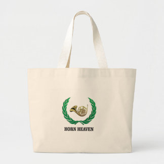 horn heaven art large tote bag