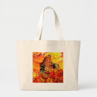 Horn of plenty in Thanksgiving Large Tote Bag