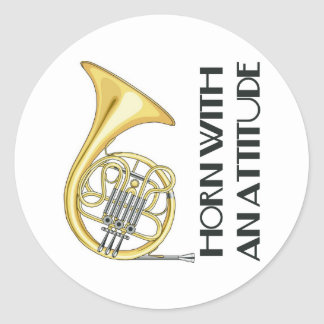 Horn With An Attitude Stickers
