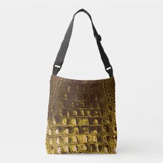 HORNBACK ALLIGATOR BAG METALLLIC GOLD METALLLICA