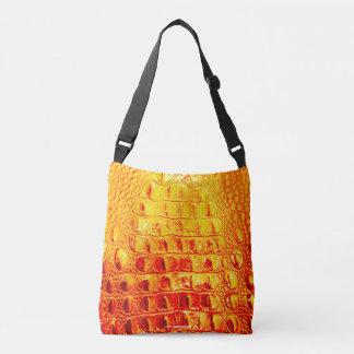 HORNBACK ALLIGATOR BAG SUNSHINE ON ORANGES