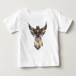 Horned beaded Owl Baby T-Shirt