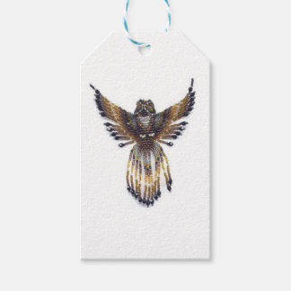 Horned beaded Owl Gift Tags