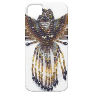 Horned beaded Owl iPhone 5 Case