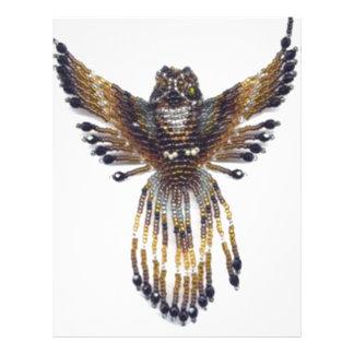 Horned beaded Owl Letterhead