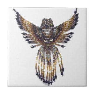 Horned beaded Owl Tile