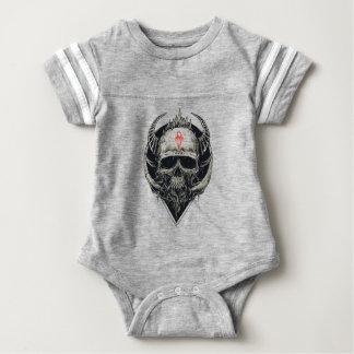 Horned Devil Skull Baby Bodysuit