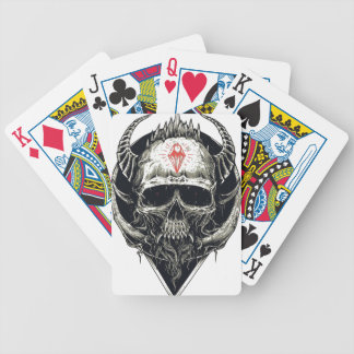 Horned Devil Skull Bicycle Playing Cards