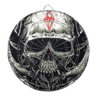Horned Devil Skull Dartboard