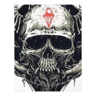 Horned Devil Skull Letterhead