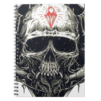 Horned Devil Skull Notebooks