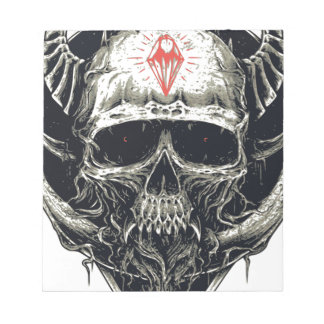 Horned Devil Skull Notepad