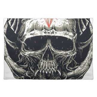 Horned Devil Skull Placemat