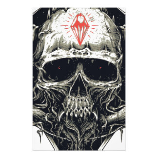 Horned Devil Skull Stationery