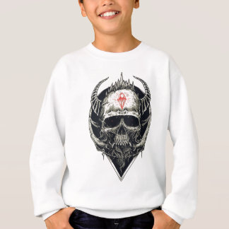 Horned Devil Skull Sweatshirt