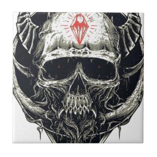 Horned Devil Skull Tile
