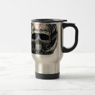 Horned Devil Skull Travel Mug
