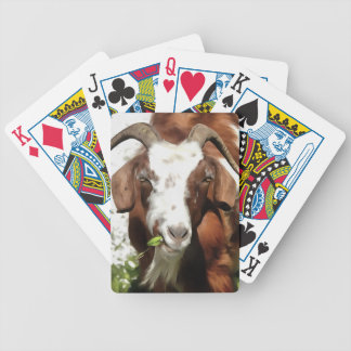 Horned Goat Grazing Bicycle Playing Cards