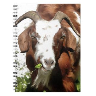 Horned Goat Grazing Notebook