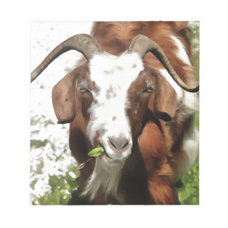Horned Goat Grazing Notepad