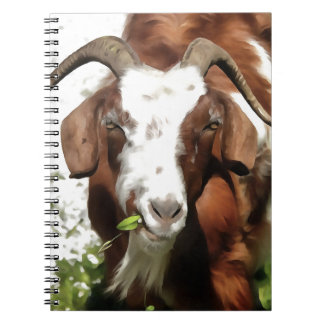 Horned Goat Grazing Spiral Notebooks