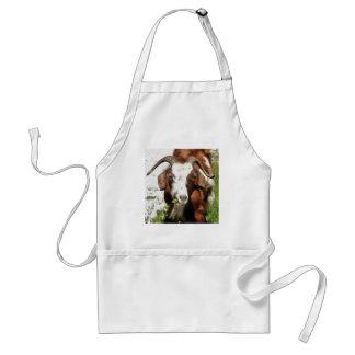 Horned Goat Grazing Standard Apron