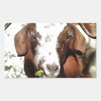 Horned Goat Grazing Sticker
