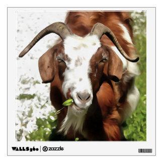 Horned Goat Grazing Wall Sticker