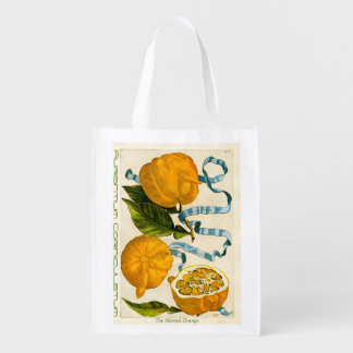 Horned Orange-Botanical Illustration - Grocery Bag