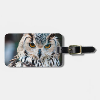 Horned Owl Bird Nature Wildlife Luggage Tag