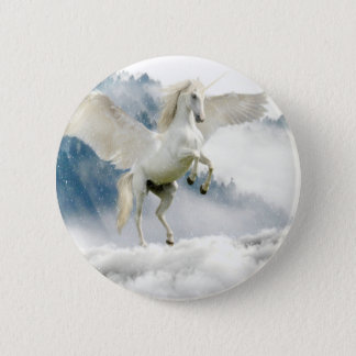 Horned Pegasus 2 Inch Round Button