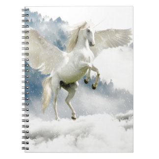 Horned Pegasus Spiral Notebook