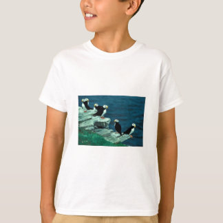 Horned Puffins on Puffin Island T-Shirt