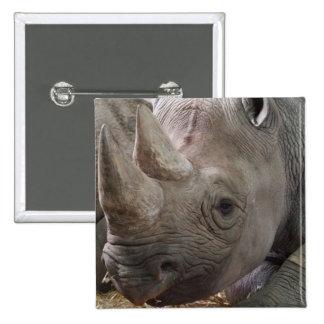 Horned Rhino  Button