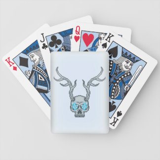 Horned Skull Winter Heart Bicycle® Playing Cards