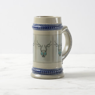 Horned Skull Winter Heart Stein