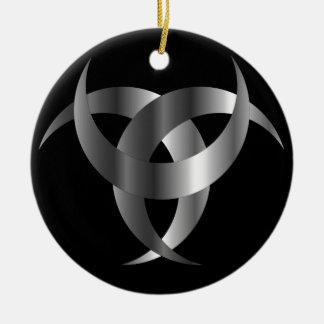 Horned Triskele- The horn of Odin Ceramic Ornament