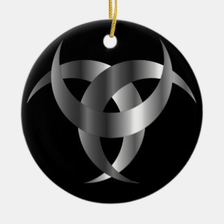 Horned Triskele- The horn of Odin Round Ceramic Ornament