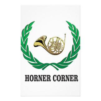 horner corner art stationery design