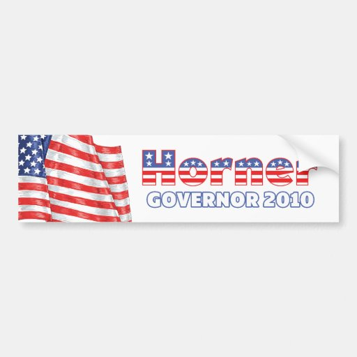 Horner Patriotic American Flag 2010 Elections Bumper Stickers