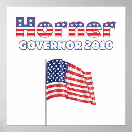 Horner Patriotic American Flag 2010 Elections Poster