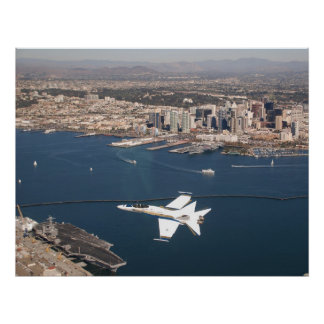 Hornet over San Diego Poster