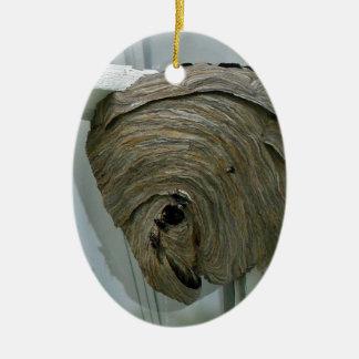 Hornets Nest Ceramic Oval Ornament