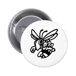 Hornets Outline 2 Inch Round Button
