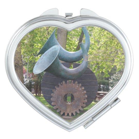 Horns & Gear Heart Compact Mirror