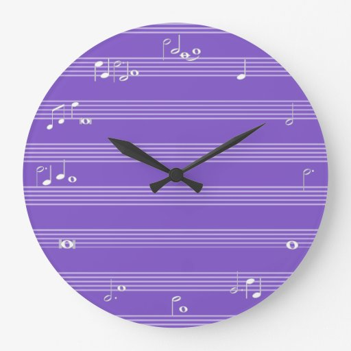 Horodateur de note de musique - pourpre horloge